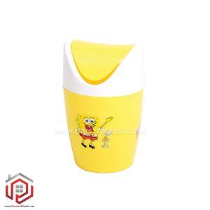 سطل کاغذ رومیزی چاپدار کوچک لیمون