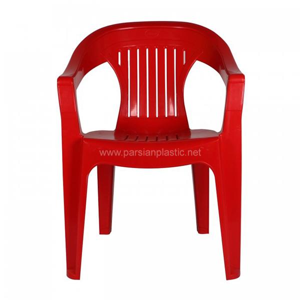 صندلی دسته دار قرمز ناصر پلاستیک