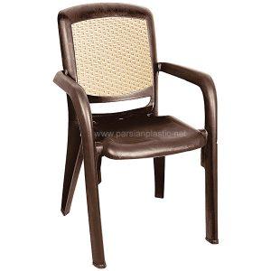 صندلی دسته دار قهوه ای ناصر