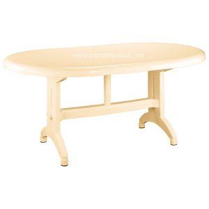 میز بیضی ناصر پلاستیک