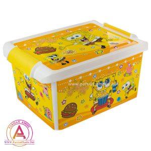 جعبه طرح دار کودک بزرگ هوم کت