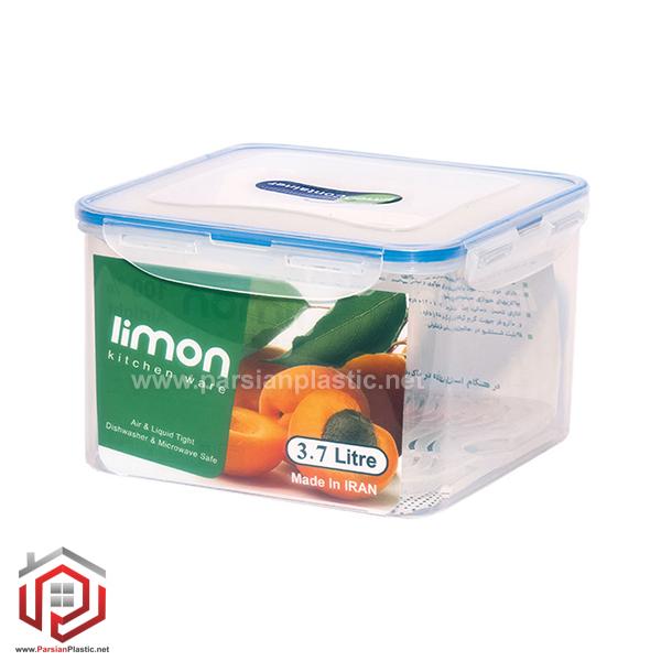 ظرف فریزری مربع 3/7 لیتری لیمون