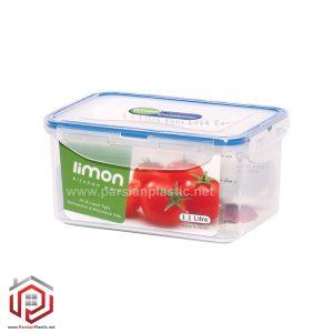 ظرف فریزری مستطیل1/1 لیتر لیمون