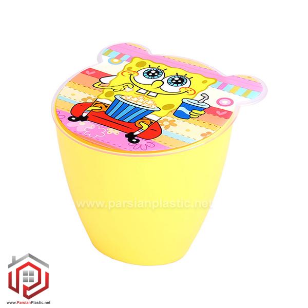 سطل کاغذ چاپدار اسپرت لیمون