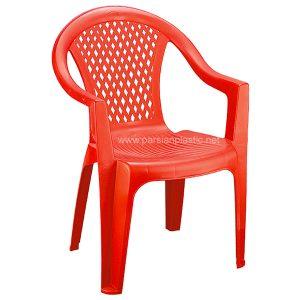 صندلی دسته دار قرمز ناصر 871