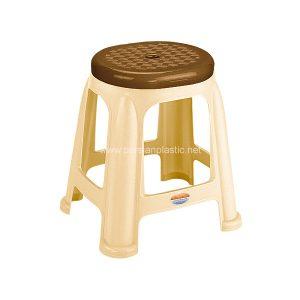 چهارپایه دو رنگ بلند ناصر پلاستیک