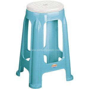 چهارپایه دو رنگ بلند 1417 ناصر پلاستیک
