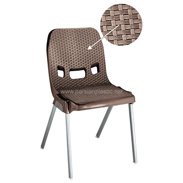 صندلی پایه فلزی قهوه ای ناصر 881