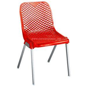 صندلی پایه فلزی توری ناصر پلاستیک 882
