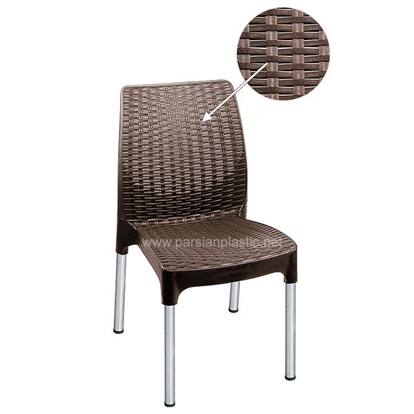 صندلی پایه فلزی حصیری ناصر 971