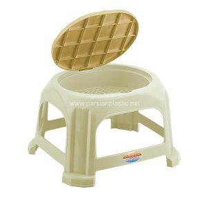 چهارپایه درب دار حمام ناصر پلاستیک