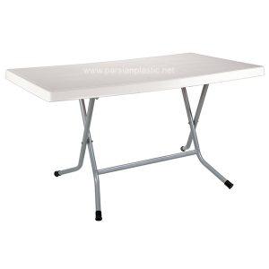 میز مستطیل تاشو پایه فلزی 721 ناصر پلاستیک