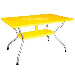 میز مستطیل پایه فلزی 6 نفره ناصر پلاستیک