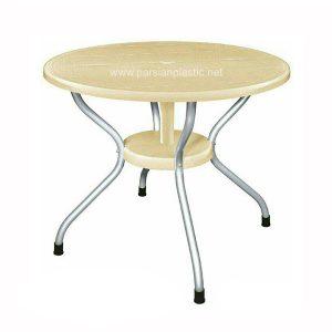 میز گرد پایه فلزی ناصر پلاستیک