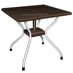 میز مربع پایه فلزی ناصر پلاستیک