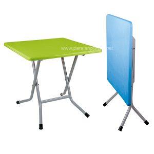 میز مربع تاشو پایه فلزی ناصر پلاستیک