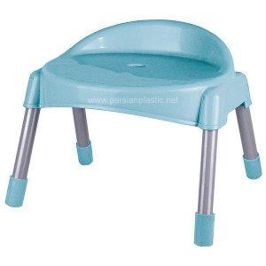 چهارپایه پشتی دار پایه فلزی کوتاه ناصر