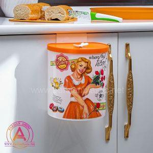 سطل کابینتی چاپدار هوم لیدی نارنجی