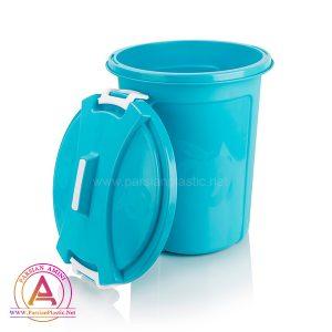 سطل زباله 45 لیتری اپل تاپ اشکان پلاستیک